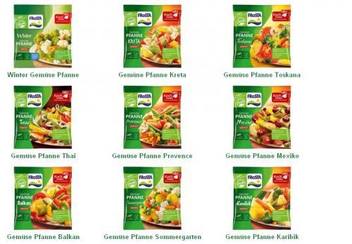 Frosta Gemüsepfanne 1,99€  Galbani Mozzarella 0,66€  Salakis 1,49€   NETTO (ohne Hund) bundesweit