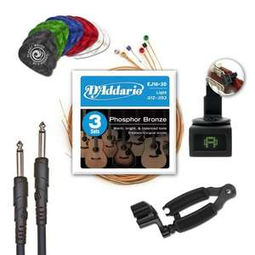 D'Addario EJ16-PLPK-01 Players Pack Akustik Starterset für 31€ @Amazon