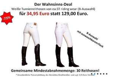 [Ausverkauft]Turnierreithose (B-Auswahl) von ea.St riding wear für 34,95 Euro + 5,95 € Versand