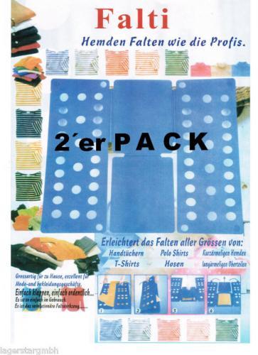 2x Faltbrett - Einfach schnell Wäsche falten