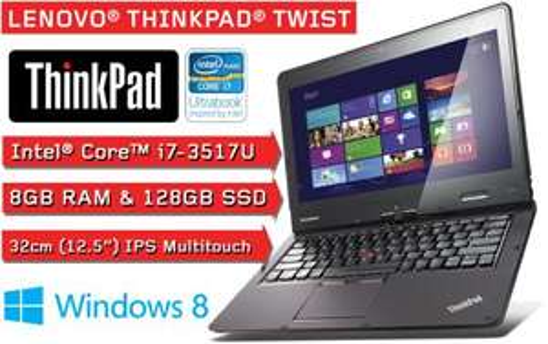 Lenovo THINKPAD Twist Convertible Ultrabook i7 / 8GB RAM / 128GB SSD / UMTS