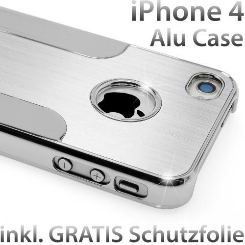 Apple iPhone 4 und 4s Aluminium Case inkl. Schutzfolie