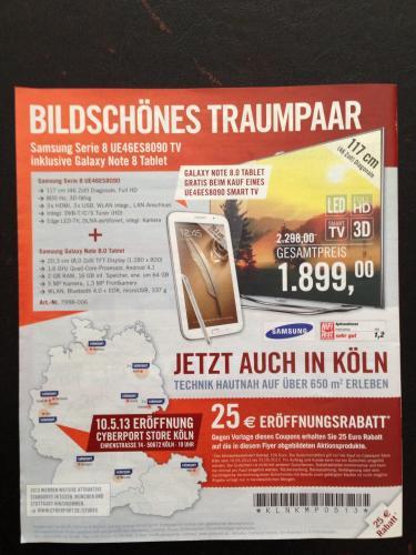 [Lokal Köln] Apple TV oder Boxee Box für 75€ durch 25€ Cyberport Eröffnungsrabatt Gutschein