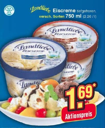 Netto (ohne Hund) - Landliebe Eis 750ml versch. Sorten nur 1,69€