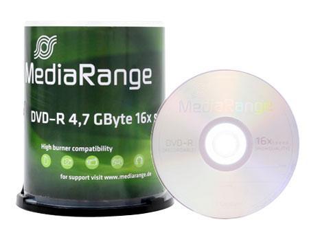 MediaRange DVD-R 4.7GB - 16x - 100 Stück in Cakebox für 10,94€