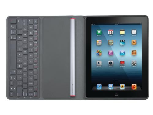 Logitech Solar Keyboard Folio Bluetooth-Tastatur für iPad 3. Generation und iPad 2 schwarz (deutsches Tastaturlayout, QWERTZ) @Amazon Blitzangebot