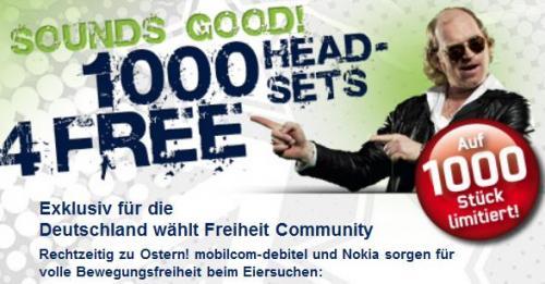 Nokia Bluetooth Headset BH-105 für Facebook Fans gratis