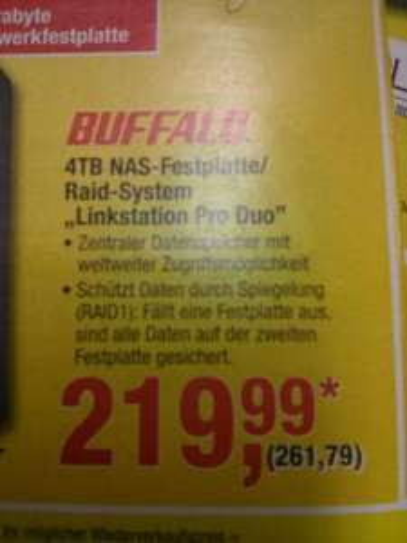 "Metro Buffalo 4TB NAS-Festplatte ""Linkstation Pro Duo"""