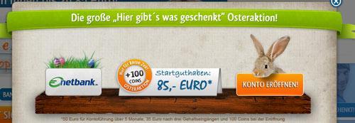 kostenloses giroLoyal Konto bei der netbank mit 95 Euro Startkapital