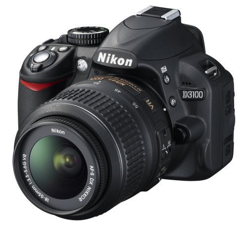 Nikon D3100 SLR-Digitalkamera (14 Megapixel, Live View, Full-HD-Videofunktion) Kit inkl. AF-S DX 18-55 VR Objektiv schwarz @Amazon Blitzangebote
