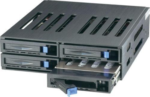 "Sunnytek/Jou Jye ST-1040SS schwarz   Festplattenwechselrahmen 4x6,35cm(2,5"") SATA/SAS < 10€/Slot +qipu (auch ohne sofü, da vsk-frei)"