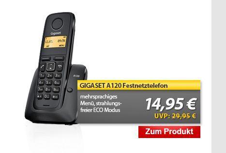 Gigaset A120 DECT Festnetztelefon @Meinpaket 14,95 €