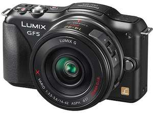 Panasonic LUMIX DMC-GF5 Black mit PZX 14-42mm Objektiv inkl. VSK für 300 € @ amazon.uk