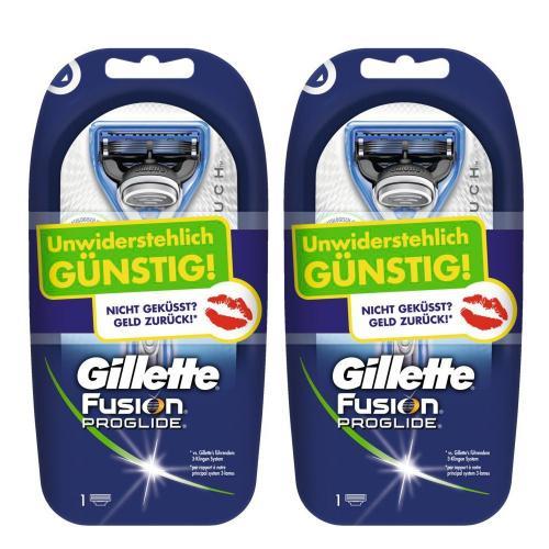 2 x  Gillette Fusion ProGlide Silvertouch Rasierapparat