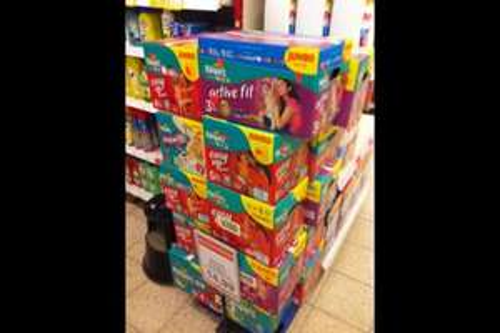 [lokal] Sky-Markt Schleswig | Pampers Jumbo Active Fit (84Stk) Pampers Easy up 56/60Stück nur 14,99€ statt 21,99€