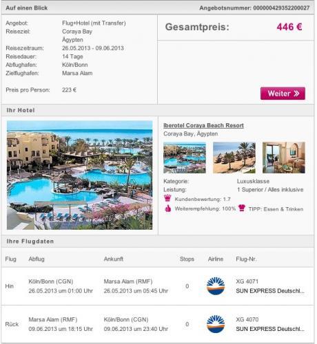 14 Tage Ägypten im 5* Iberotel (97% Holidaycheck) mit All inclusive für 223€ pro Person (min. 2) inkl. Flügen und Transfer @Ltur