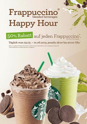 Starbucks 50% Rabatt Frappuccino - nur abends