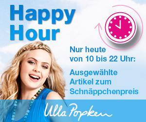 Ulla Popken Happy Hour - 50 % reduzierte Artikel 6 € Casback + 10 € NK Gutschein
