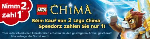 [ Toys'R'us ] 2 LEGO Chima Speedorz kaufen und 1 zahlen [ Nimm 2, zahl 1 ] ab 10,89 EUR