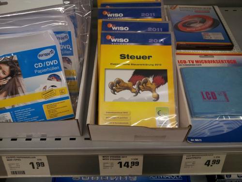 Wiso Steuer 2011 (für Steuerjahr 2010) nur 14,99 € lokal@Rewe Center