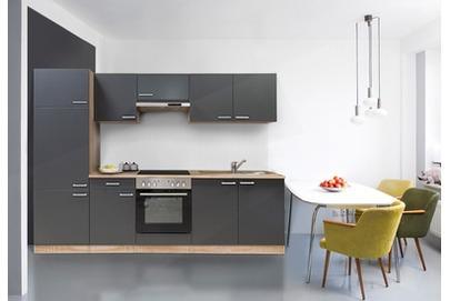 respekta Küchenblock 270 cm Grau Ceran inkl. Geräte bei OBI ...
