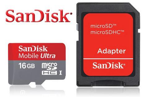 Sandisk Mobile Ultra microSDHC 16GB Class 10 UHS-I für 11,99€ inkl. Versand