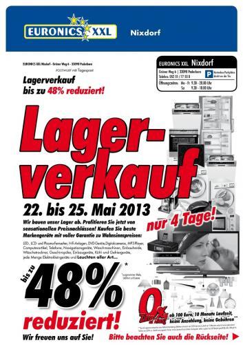 [Euronics XXL Lokal Paderborn] Lagerverkauf bis zu 48% reduziert
