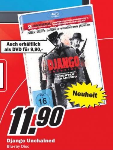 """[Lokal Bremerhaven] MediaMarkt: Django Unchained BD für 11,90€ und """"3 für 15€"""" Aktion mit guten Titeln"""