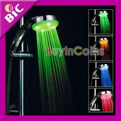 Duschkopf Brause Dusche Shower Handbrause LED 7 Farbe