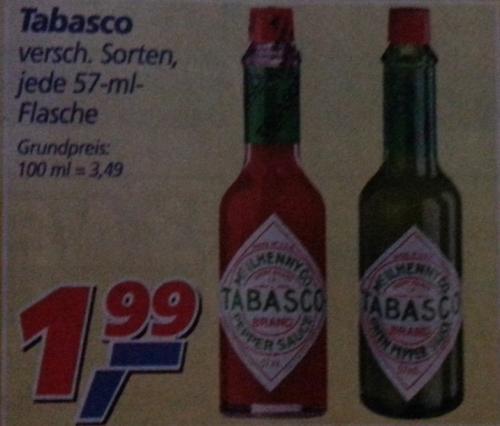 Tabasco @ Real für 1,99 € [lokal?]