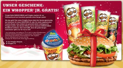 Pringels verschiedene Sorten mit Gratis Wopper Junior für 1,29€ @Herkules/Edeka bundesweit
