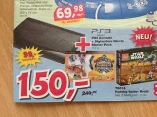 Toysrus Düsseldorf: Playstation 3 + Skylanders Giants Starter Pack