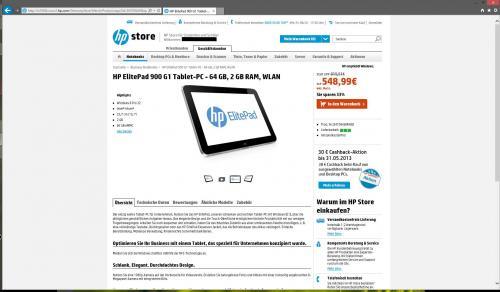 [HP Store für Studenten und Schüler] Elitepad 900 mit über 175 € Ersparnis