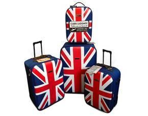 Trolley 4er Set - UK deSiGn Reisekofferset - Union Jack für 59,99 €, vk-frei