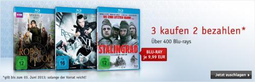 3 Blu-rays zum Preis von 2 bei buch.de