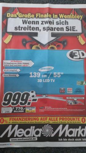 Samsung UE55F6640 bei Media Markt Lokal (Speyer,Mannheim etc.)