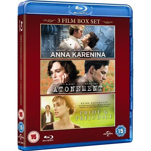 Blu-Ray Box - Stolz & Vorurteil, Abbitte, Anna Karenina (2012) (3 Discs) für €18,65 [@Zavvi.com]