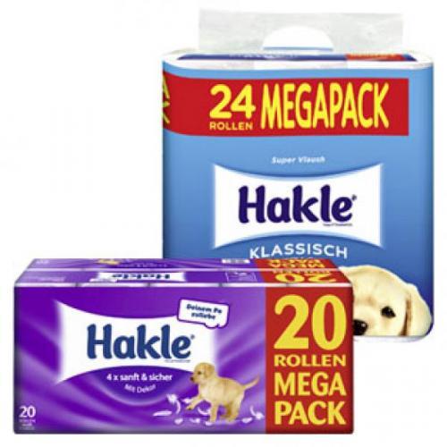 Hakle Klassisch weiss Toilettenpapier 24 Rollen für 4,98€ bei Thomas Philipps