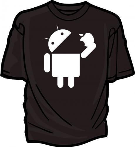 "(UK) Android ""Eating Apple"" T-Shirt in diversen Farben für 11,69€ inkl. Versand @ Ebay"