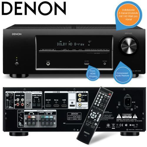 Denon AVR-X500 5.1-Surround-Receiver (140 Watt) in schwarz als iBOOD des Tages für 248, 90 €