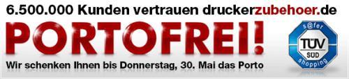 VERLÄNGERT BIS SONNTAG - Versandkostenfreie Bestellung bei Druckerzubehör (kein MBW) - bis 30.05.2013