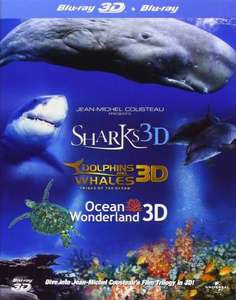 (UK) Jean-Michel Cousteau's Film Trilogy (Dolphins & Whales/Sharks/Ocean Wonderland Blu-ray 3D + Blu-ray)