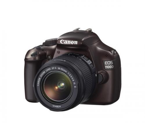 Canon EOS 1100 D Spiegelreflexkamera + EF-S 18-55 IS II in braun @ebay