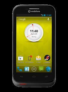 Vodafone Smart III Schwarz - Smartphone mit Jelly Bean, 4 Zoll Display (800x480 Pixel), NFC