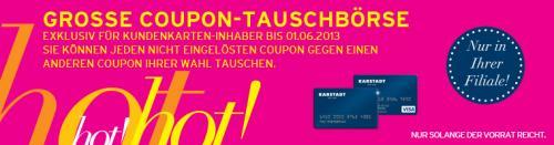 Karstadt Coupon - Tauschbörse noch bis zum 1.06.