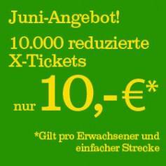 HKX - im Juni immer Mittwochs für 10€ zwischen Hamburg und Köln fahren