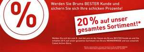 [Lokal Oldenburg] 20% auf alles bei Bruns