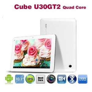 "CUBE U30GT 2, Quad Core, 10.1"" Tablet PC, FullHD(1080P), IPS Screen, Android 4.1, 2GB Ram, 32GB Speicher, Bluetooth, Weiß"