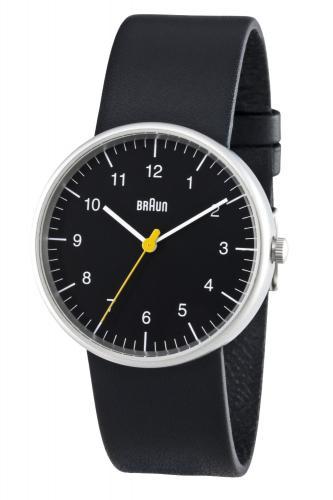Braun Herren-Armbanduhr XL Leder Analog Quarz BN0021BKBKG @Amazon