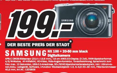 Media Markt Pforzheim: Samsung NX100 für 199€ (PVG 265€), TomTom XXL CE für 111€ (PVG 136€) und mehr!